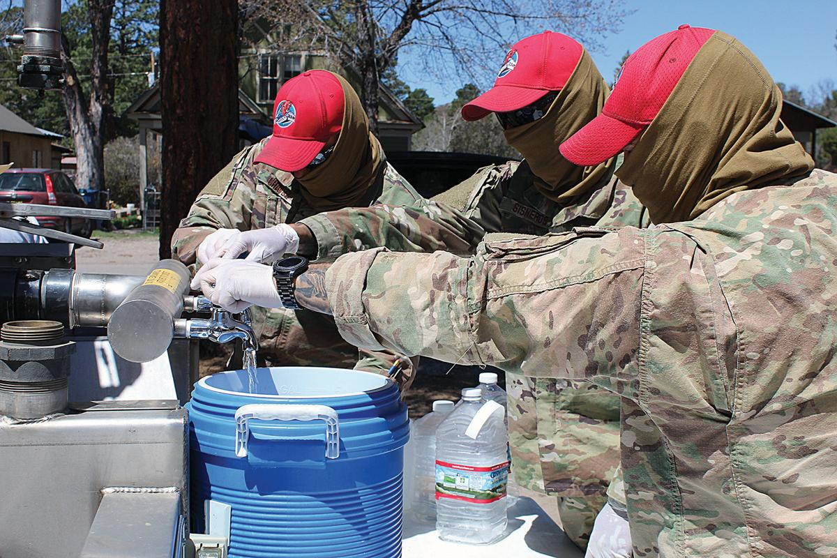 National Guard delivers water to Chama horiz