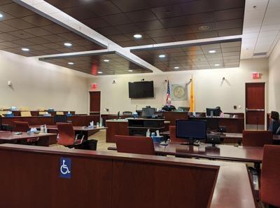 courts coronavirus empty courtroom