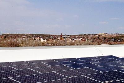 Solar array on Guad county hospital