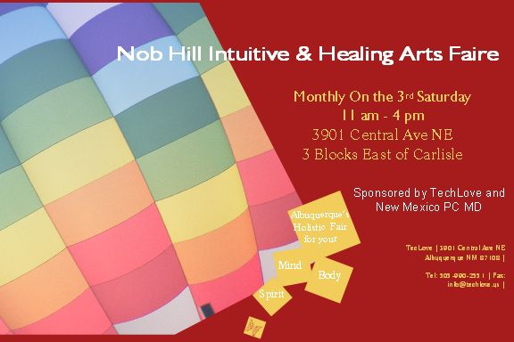 Nob Hill Intuititve & Healing Arts Faire