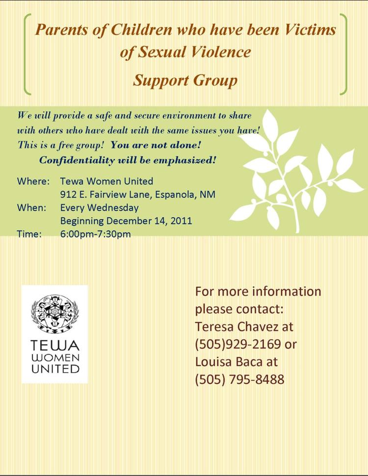 Support Group for Parents who have been Victims of Sexual Violence
