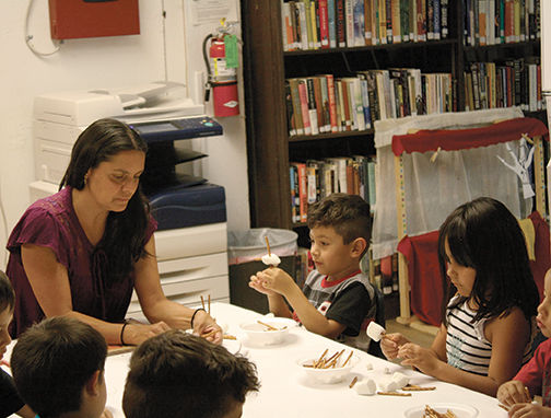 Julie Trujillo with children