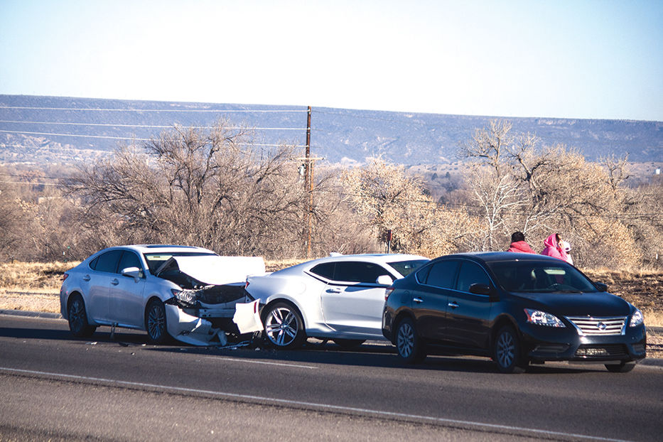 Three-car crash near Dreamcatcher