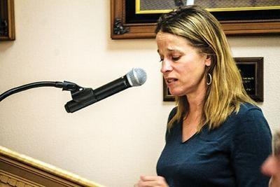 Miranda Viscoli speaks to county