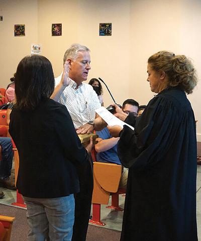 Casados sworn in