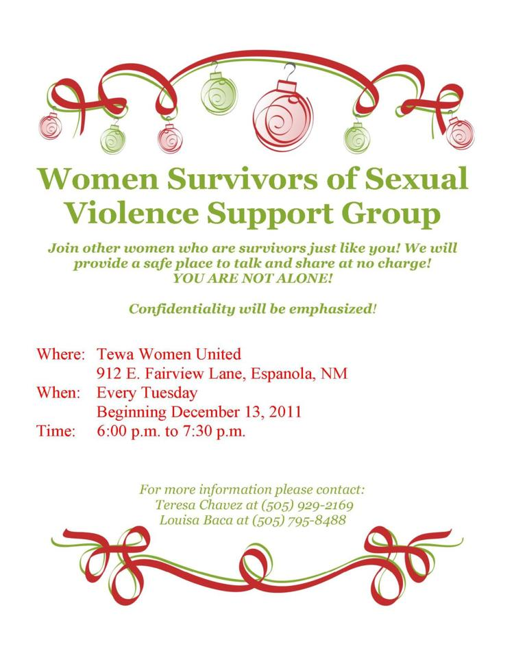 Women Survivors of Sexual Violence Support Group
