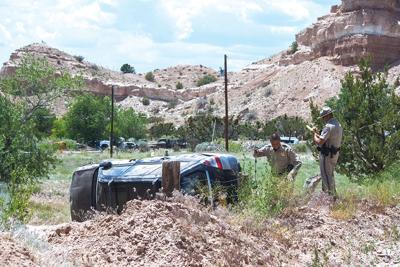 Man crashes in Chimayó field