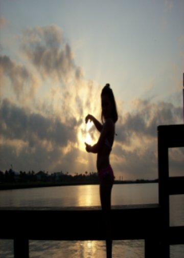 Grandaughter holding onto a little Rockport Sunrise