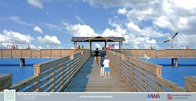 Rendering of new Fulton Pier