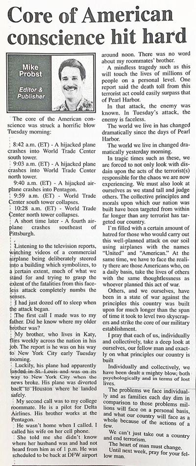 Re-written column from 20 years ago