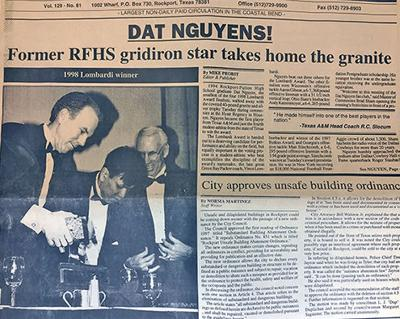 Front page from 20 years ago