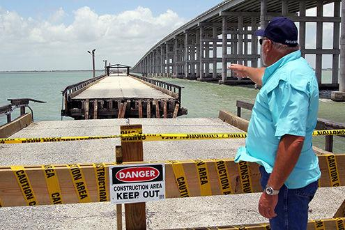 After section collapses into bay copano bay causeway for Copano bay fishing