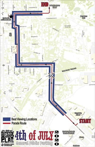 July 4th parade route