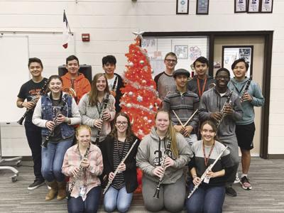 RHS band students in TMEA All-Region Bands