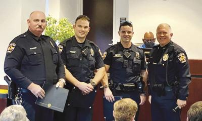 Officers recognized