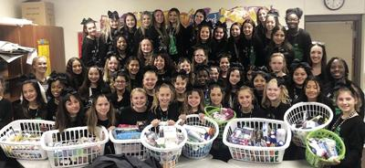 Utley Middle School cheer team