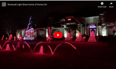 Video preview Rockwall light display