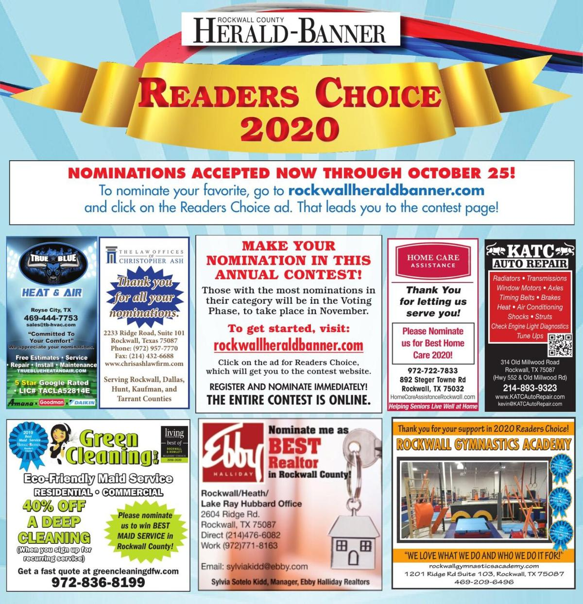 Readers Choice 2020 Nominate Page