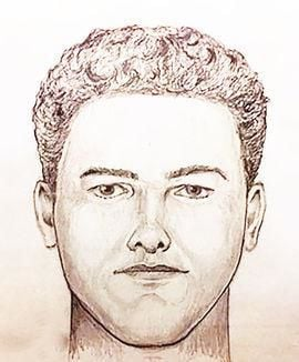 Police sketch of Indiana murder suspect