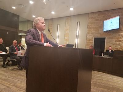 Don Huffines at Fate Council Meeting