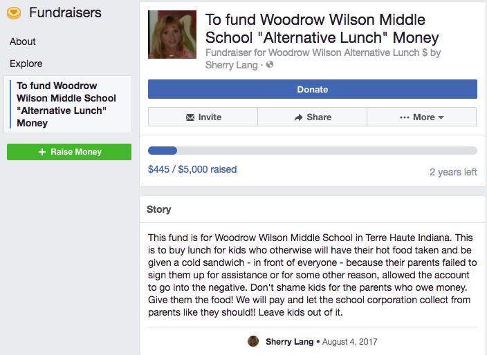 """Alternative Lunch"" money fundraiser"