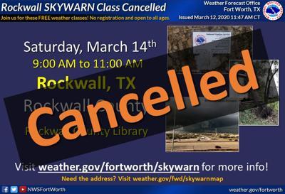 Skywarn program cancelled