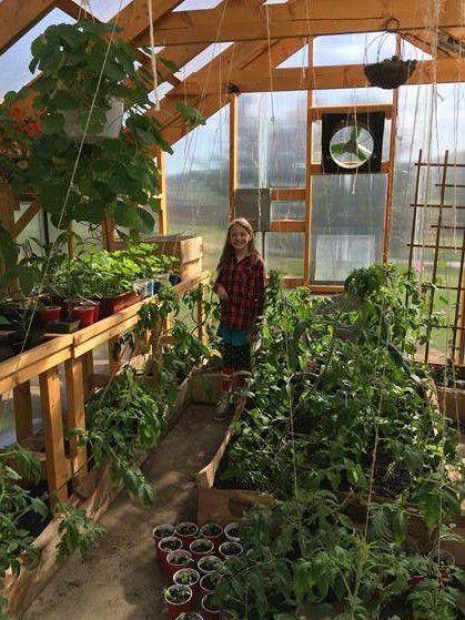 Enjoying the year-round greenhouse