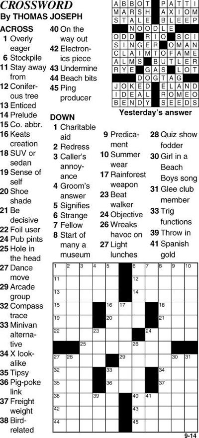 Today's Crossword