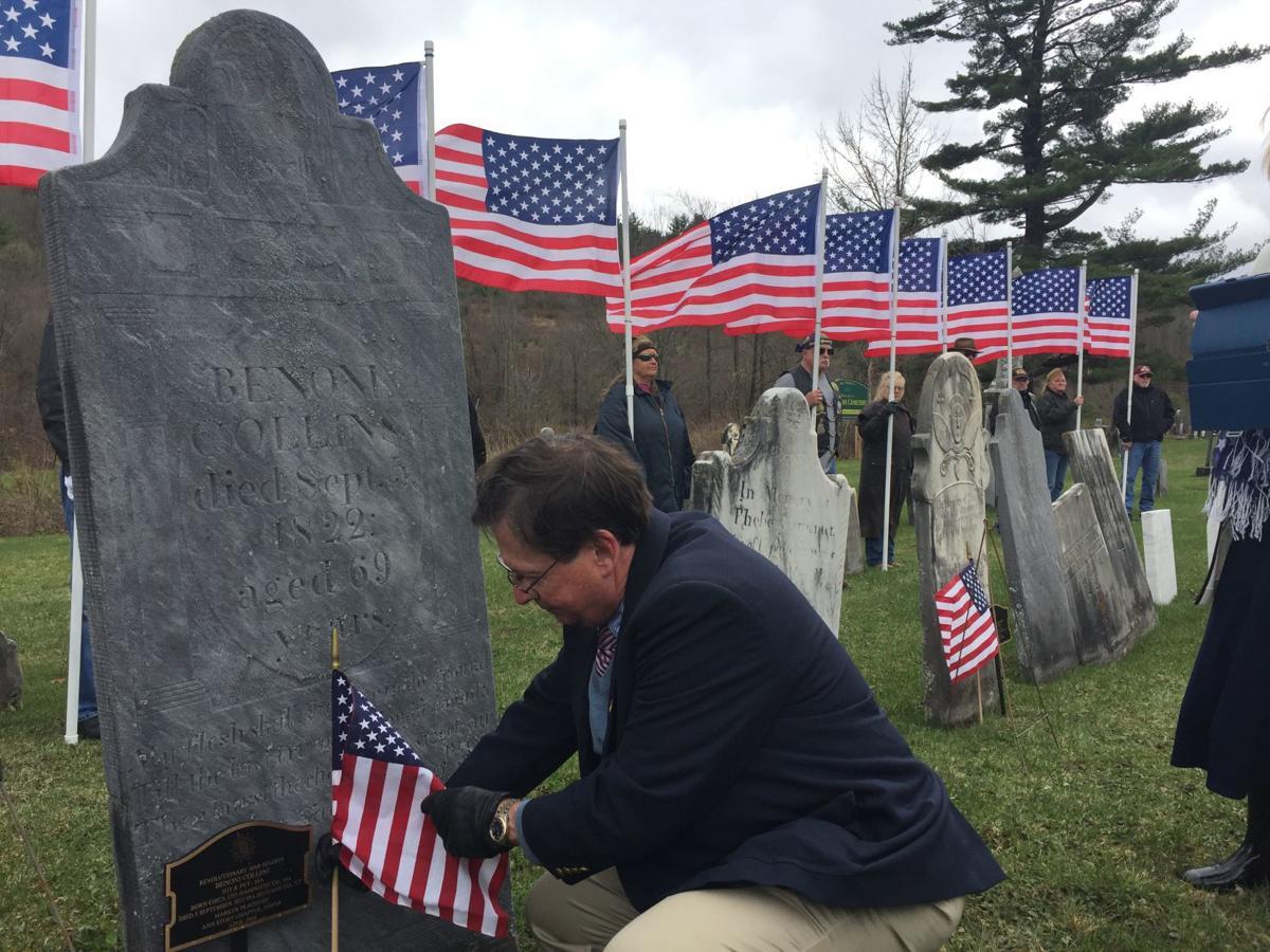 Collins graveside ceremony