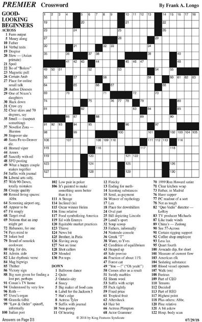 PREMIER CROSSWORD | Puzzles | rutlandherald com