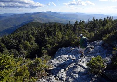Long Trail hiker