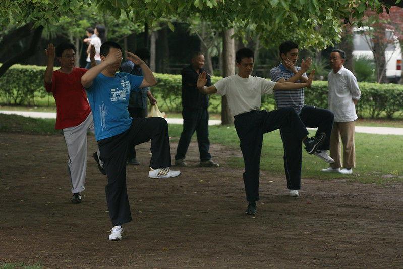 Group Practicing Tai Chi