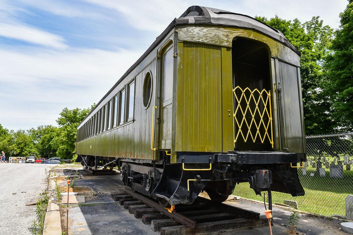 Historic rail car vandalized