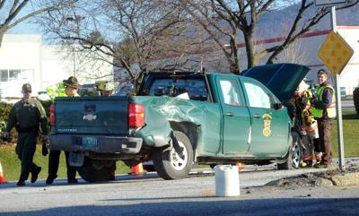 Suv Crashes Into Game Warden S Truck On Us Route 7 News
