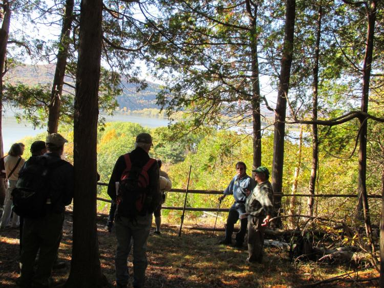 Mount Independence crane site in autumn