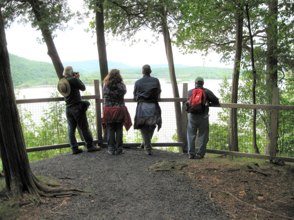 Baldwin Trail, looking over Lake Champlain