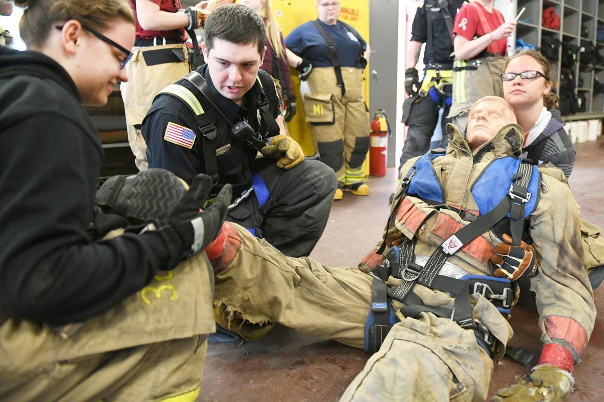 Stafford Tech Public Safety program wraps up, visits Rutland Fire Department