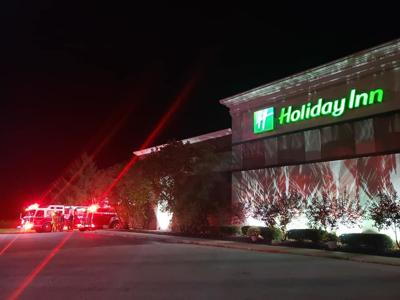 Propane leak leads to fire at Holiday Inn