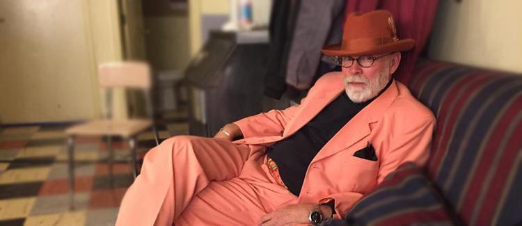 Downtown Bob Stannard in his orange suit