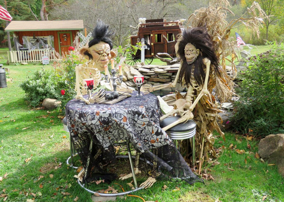Ghouls, ghosts and goblins lurk in State Park Avenue Halloween display drinks