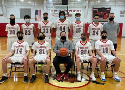 2021 Salamanca boys basketball team