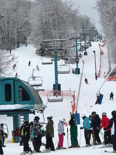 This year's unseasonably warm temps keep Ellicottville's snowguns going