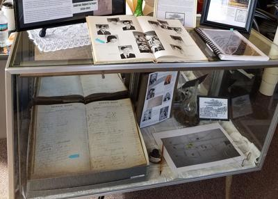 Krieger House register from 1870s on display at historical museum