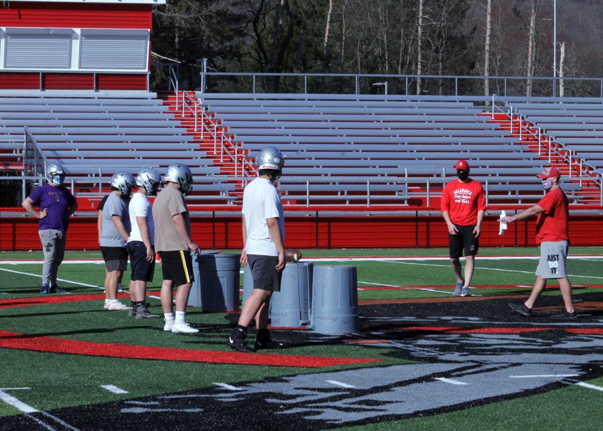 Opening football practice