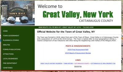 Town of Great Valley looking forward to website updates