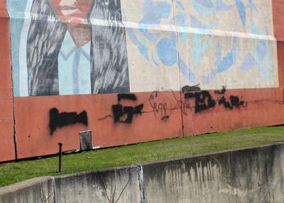 Graffiti vandalizes Main Street mural over weekend