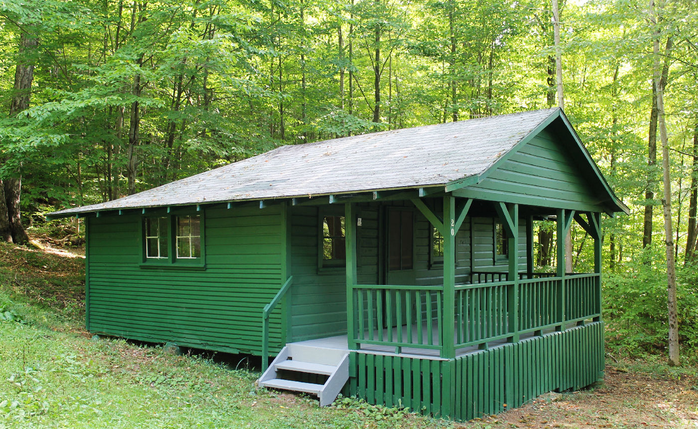 One Of The Cabins Restored By Friends Of Allegany State Park.
