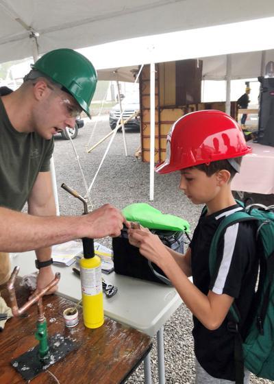 Salamanca STEAM students attend construction career fair