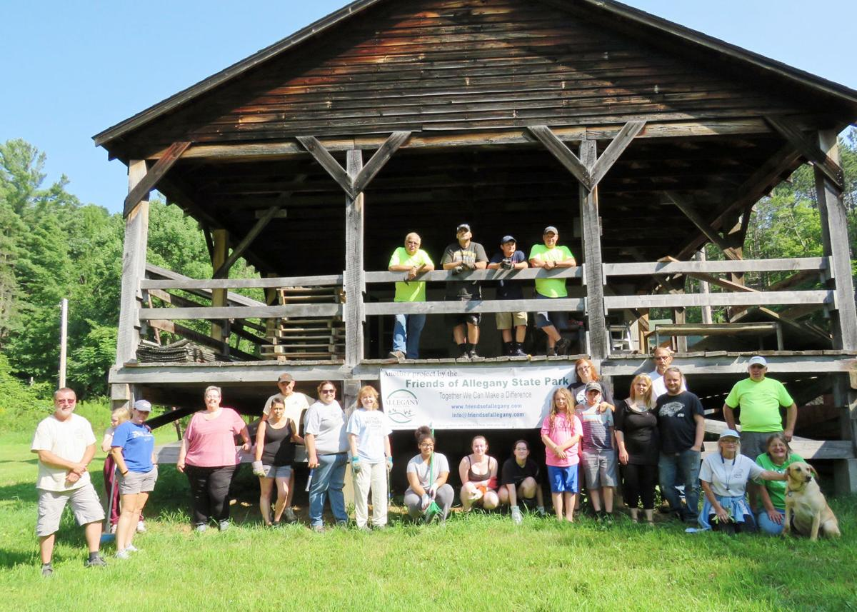 Restoration work resumes at historic Red House sawmill volunteers
