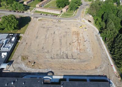 Salamanca H.S. parking lot reconstruction underway